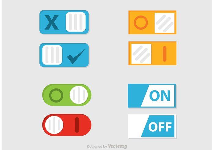 user ui turn switch slider slide shutdown power panel onbutton on off button off button off interface icon flat control button bar