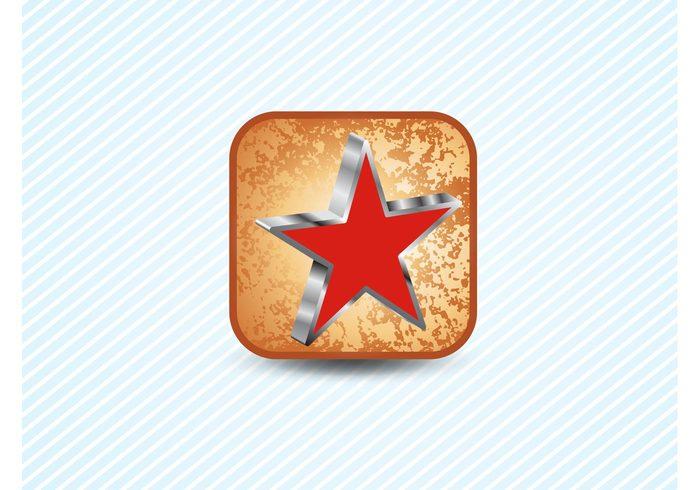 textures symbols square shapes rust program mobile grunge distress decal communism button apps app 3d