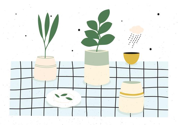 texture rain pots plate plants planter pastel colors pastel background pastel ornamental background ornamental nature leaf decorative cup cloud