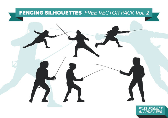 Fencing Silhouettes Free Vector Pack Vol  2 109002 - WeLoveSoLo