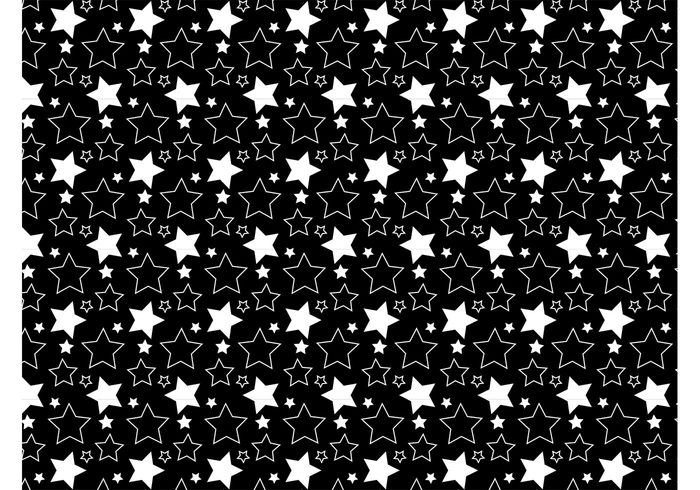 wallpapers symbols stars star seamless pattern outlines fabric pattern Clothing print background backdrop abstract
