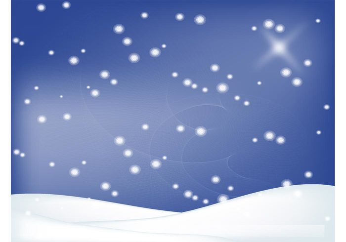 Winter backdrop star snow flakes snow magic Holidays design greeting card frozen freeze festive cold christmas blue