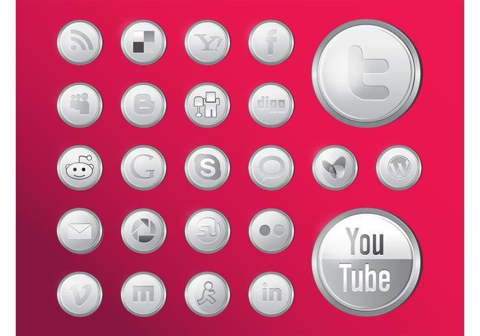 youtube yahoo wordpress vimeo twitter StumbleUpon Skype RSS picasa Myspace google flickr Facebook DIGG delicious Blogger