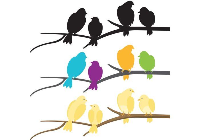 yellow birds wing wildlife wild twig tree spring sparrow Songbird nature flock of birds vector flock of birds feather fauna environment branch birds bird in tree bird animal