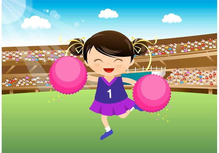 young woman teenager Teenage Teen stadium sparkling sky seats Pompoms pom poms person performer outfit little leader lady kid Human ground girl female energetic drawing dancer cute costume child cheerleading backgrounds cheerleader backgrounds Cheerleader cheerer cheerdancer cheerdance cheer attire