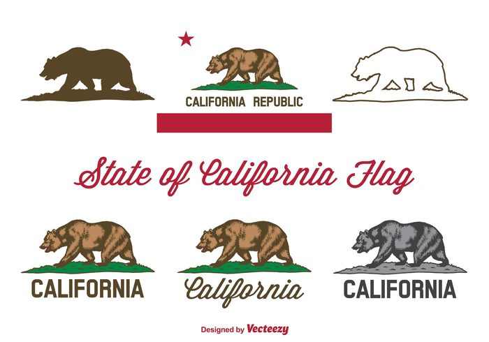vector USA flag USA united states of america United symbol state flag state star silhouette sign script Republic red national isolated ink illustration icon green grass font flags flag emblem element design collection california state california flag california bear california brown bear silhouette bear flag bear banner background america