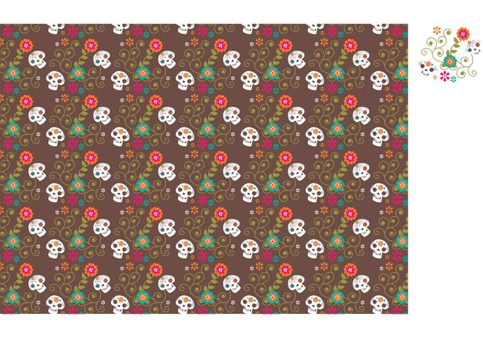 wrapper wallpaper viva mexico vector tile texture Textile template sugar skull sugar star spooky skull skeleton seamless Repetition repeating pattern ornate ornament November mexico mexican halloween mexican latin image illustration halloween graphic flower Fiesta festival fabric dia de los muertos sugar skull design decorative decoration death dead day of the dead culture colorful Bone background art abstract