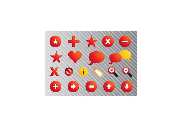 zoom website web symbol star speech set round open network modern love icon heart Forbidden communication circle button bubble arrow