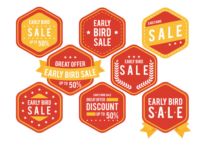 yellow web vintage text tag symbol style sticker star stamp special sign shapes set sale label sale ribbon retro retail red premium offer new medal logo Lable label isolated hexagonal free emblem element early bird sale label early bird sale early bird discount design deal button business banner badge background