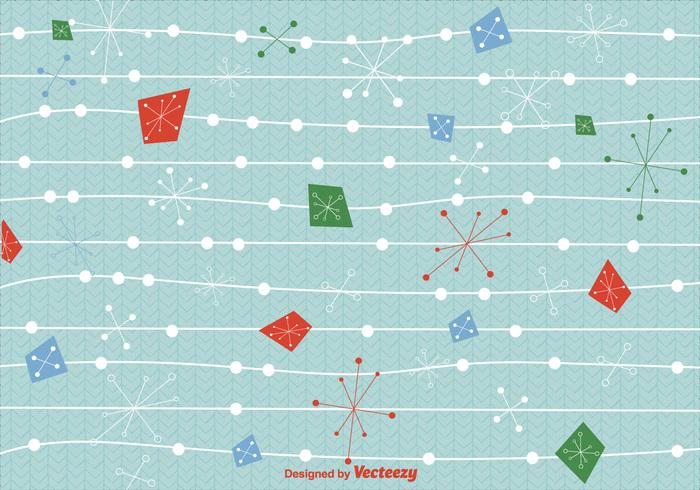 Mid Century Christmas Background Vector 140857