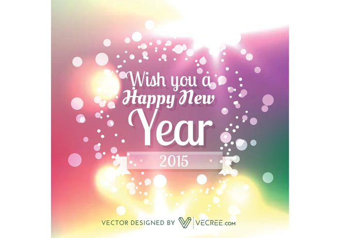 vector new year holiday happy new year design creative colorful celebration 2015