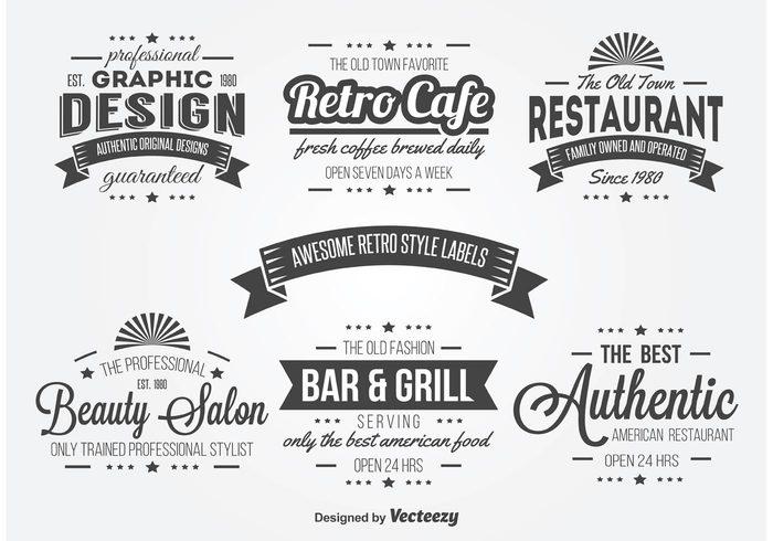 vintage typography vintage labels vintage label vintage typography label typography badge typography retro typography Retro style retro labels retro label retro bar and grill retro rerto restaurant label labels label graphic design beauty salon
