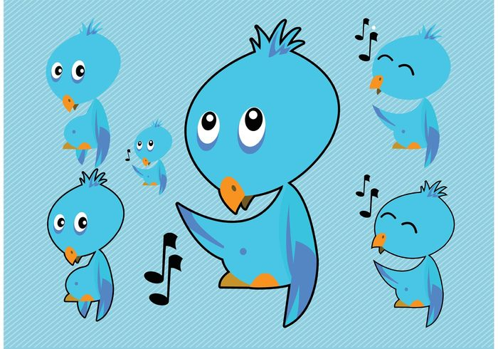 Whistle web symbol social media Sing logo internet icon cute connection computer communication clip art chat character cartoon blue blog bird