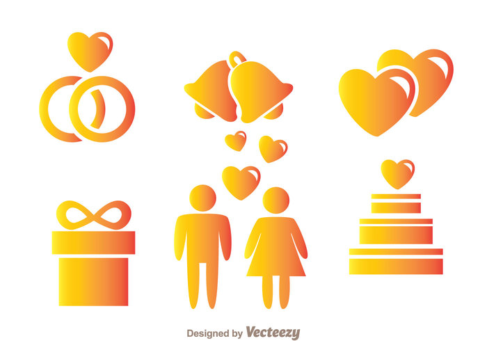woman wedding cake wedding bells wedding ring party man love happy gradient gift couple cake bells