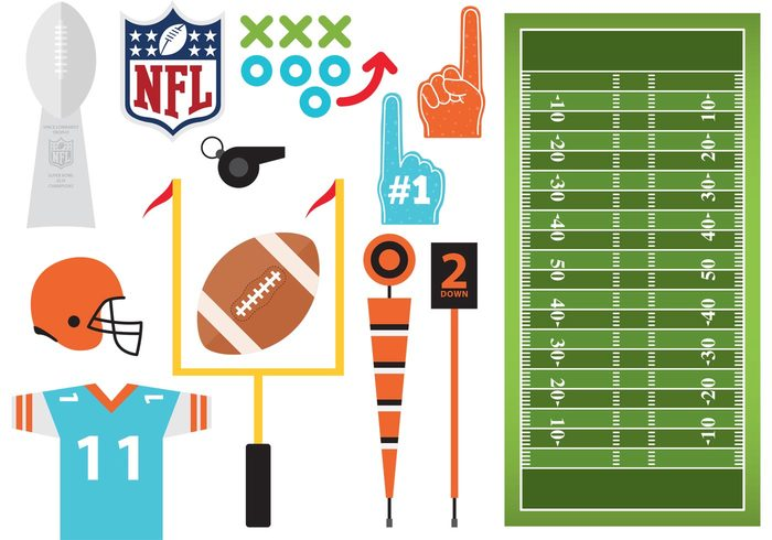 Whistle uniform Touchdown team strategy stadium sport safety referee protection post player play league jersey helmet goal game football flag field equipment competition Championship ball american #1 foam finger