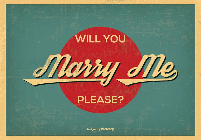 you would will you wedding vintage vinatge vector together text stylized style speech Speaking saying romantic retro question proposal poster please picture passion motif message Me marry me vector marry me marry marriage love letter illustration happy element drawing design cute couple Conceptual background 60's 50's