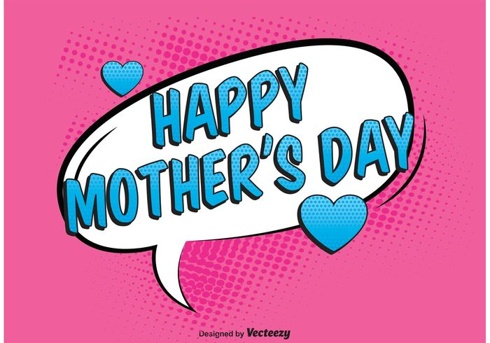 woman wishes Motherhood mother's day background Mother's day mother mommy mom lady i love you happy mothers day happy fun family comic style comic bubble comic Cartoon style best mom background