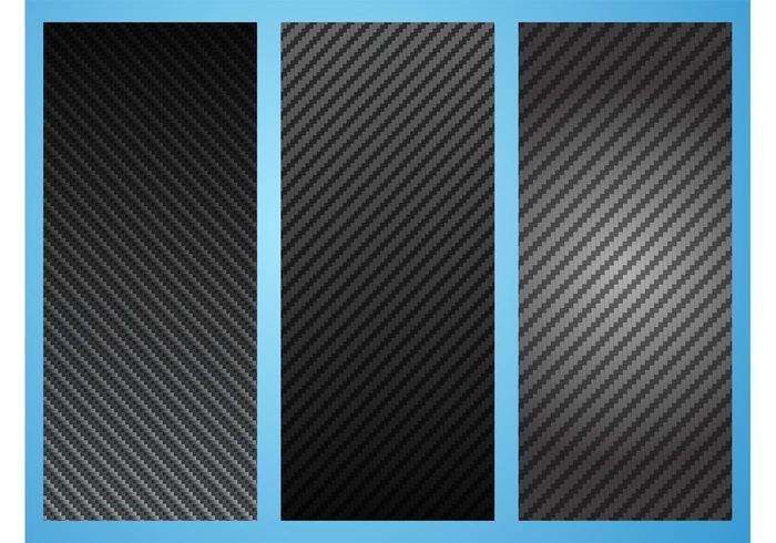 vector backgrounds texture Surface realistic pattern set gradient fiber detailed dark carbon fiber backdrop