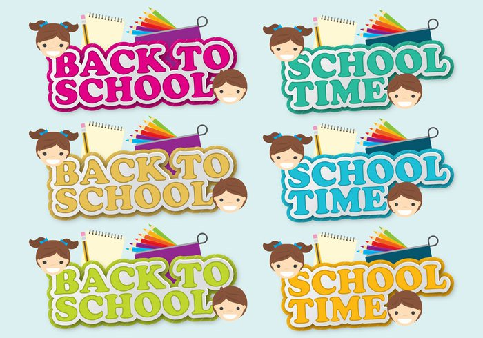 vector text symbol success sign school sale pencil case pattern ornament Lesson layout label header fashion education design decoration cool collection class celebration blackboard banner badge background Back to school back August advertising