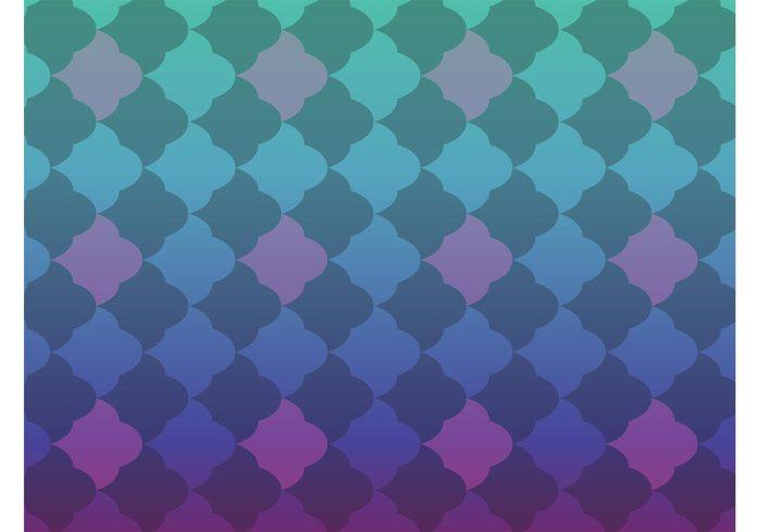shape shades seamless retro purple pattern green gradient colors cloud blue background vector backdrop