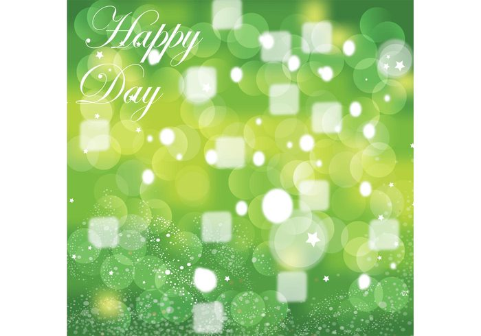 party joy happy greeting card green geometric fun dots Cool backgrounds circle celebrate box birthday abstract