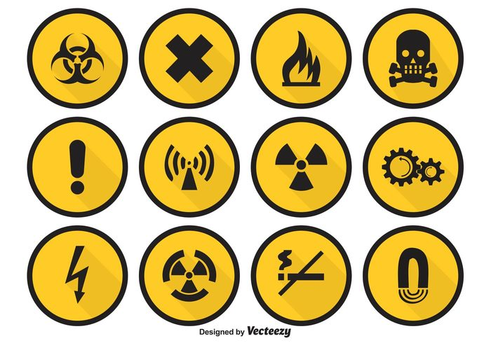 Warning symbol Voltage toxic temperature surveillance stop safety rockfall risk radiation protection poison symbol poison sign poison oxidant no hazard sign gas flammable explosive exclamation error message environment electricity disabled deeply death danger symbol danger sign danger icons danger icon Chemical caution icons caution caustic Biological Biohazard alertness alerting