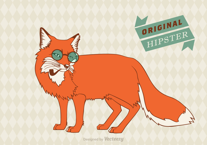 Zoo youth young vintage vector Unusual trendy tobacco pipe symbol stylish style sly simple silhouette ribbon retro print poster postcard placard Optimism nature modern mammal image illustration hipster head graphic funny fox fancy face eyeglasses Detail cute creativity color card Bowler bow beautiful banner art animal abstract