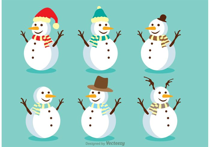 winter snowman isolated snowman snowflake snow man snow smiling scarf santa hat isolated snowman isolated holiday frost December christmas card christmas