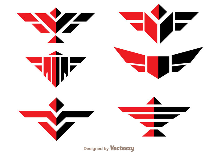 wing symmetric shape red power medal logo line hawk logos hawk logo hawk geometric fly emble black bird logo bid animal