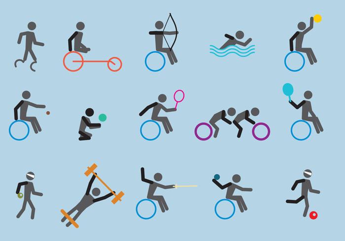 Paralympic Sport Icon Vectors 142867