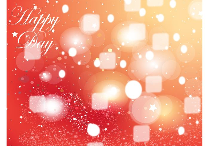 yellow vector background stars square red party orange joy Happy birthday graphics fun circle celebrate bubbles