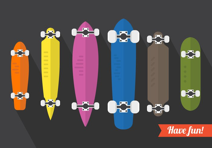 youth wheel urban truck trendy symbol sun summer sport speed skater skateboarding skateboard skate sign set sea road Recreation object longboarding longboard long lifestyle leisure isolated illustration hill health graphic flat extreme element drawing design deck cool colorful color collection board background art active