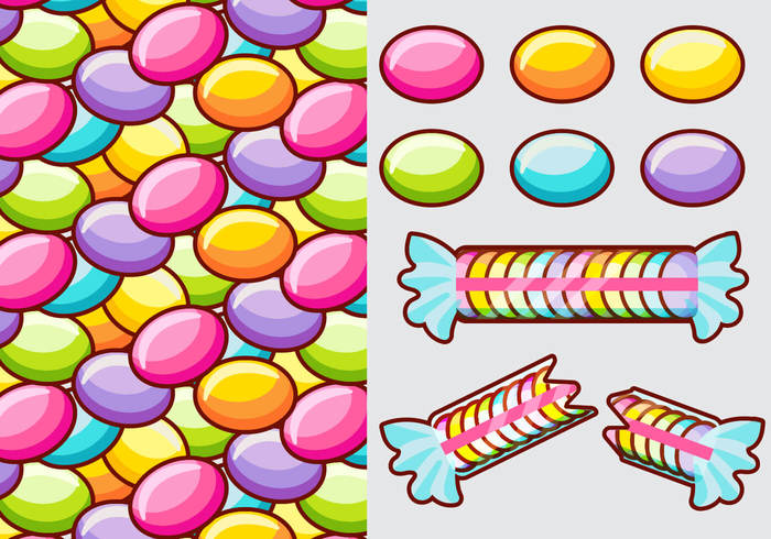 09cdbptxcm1vl43 Smarties Candy Vector Elements