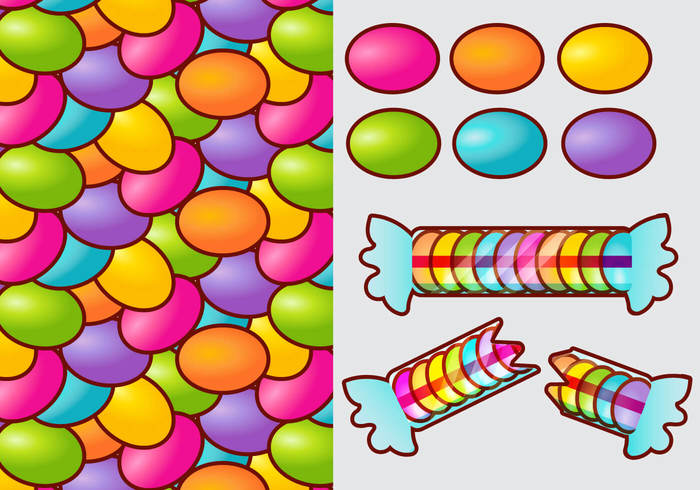 09e0h5bfbtr5c45 Smarties Candy Gradient Vector Elements
