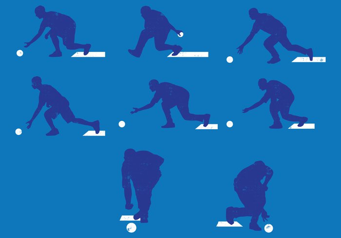 vector tournament target sport Single silhouette score scalable Recreation player play movement motion man league lawn bowls isolated illustrations illustration Hobby graphic game fun floor eps10 entertainment design competition bowling bowl body ball background activity active action
