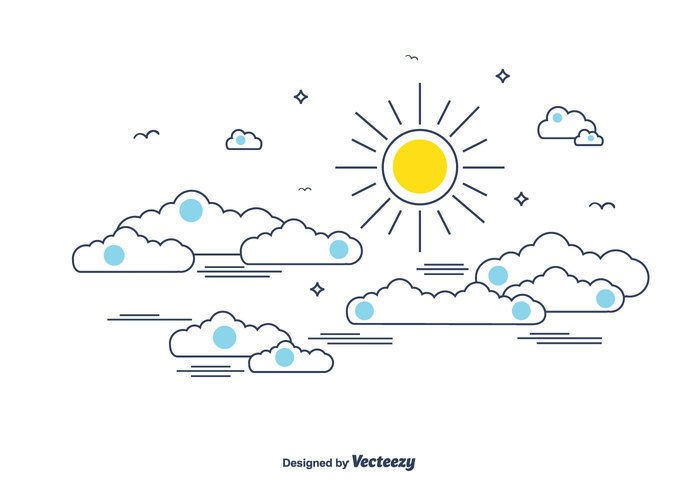 sun star sky simple outline light doodles cute cloud chinese clouds chinese cloud blue background