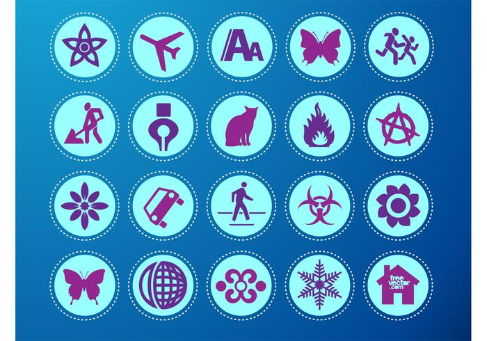 worker tool symbols scroll running people pen jet home globe Font size flowers flames car butterfly ANARCHY airplane