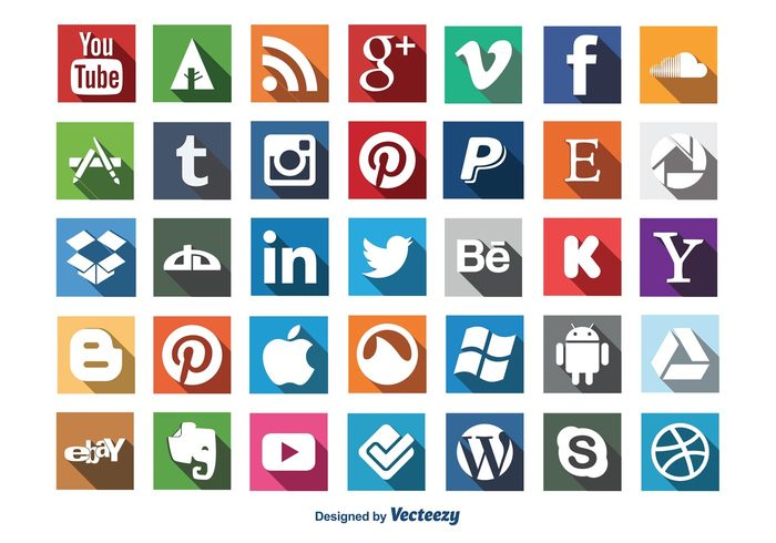 web vector twitter icon trendy symbol social media social set modern icons mobile message long shadow icon long shadow internet icon set icon flat icons flat icon flat facebook icon entertainment element drop box icon dribble icon design computer communication button apple icon Android icon