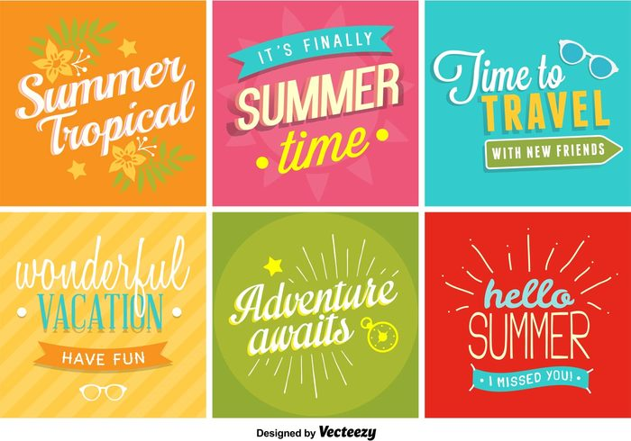 Water Vacation Background Typographic Tropical Travel Sunglasses Sun Summer Wallpaper Time