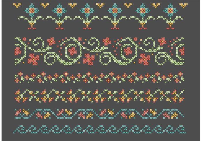 wave vine traditional towel Textile tablecloth table linen table cloth symmetry stitch seamless retro Repetition repeat pattern ornament geometric framework Folk flowers flower floral fabric ethnic embroidery editable edges decoration decorate decor cross stitch cross corners cloth classic borders backdrop art