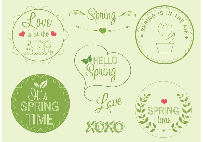 springtime spring label Spring is in the air. spring badge spring nature love is in the air label green label green garden label garden flower