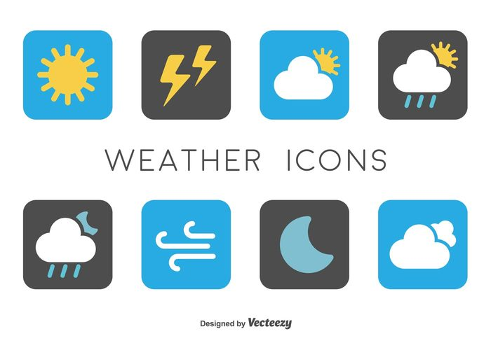 wind web weather Thunderstorm temperature symbol sunny sun snowflake snow simple sign set season rain pictogram Overcast night nature moon minimal lightning interface icon forecast flat drop collection cold cloud climate button application app