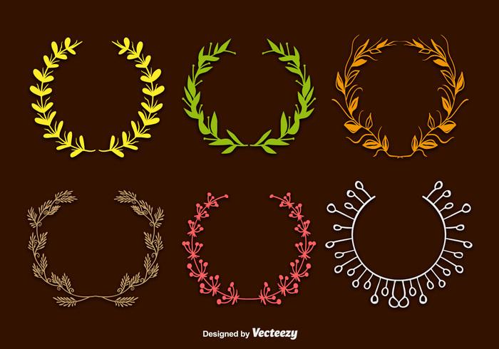 wreath wedding vintage spring round plant petal nature leaf laurel green garden frame flourish floral decorative decoration circle celebration card border boho wreath boho laurel boho frame boho