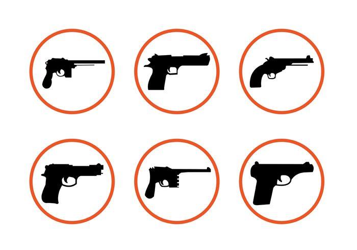 weapon war Trigger silhouette shot security pistol icon pistol object murder military Kill handgun gun shapes gun icon gun firearm police fire Dangerous danger crime