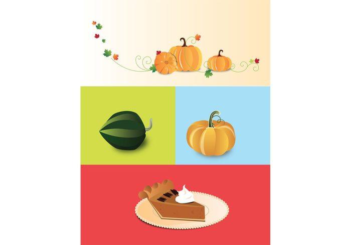 pumpkin pie leaves holiday halloween Fall