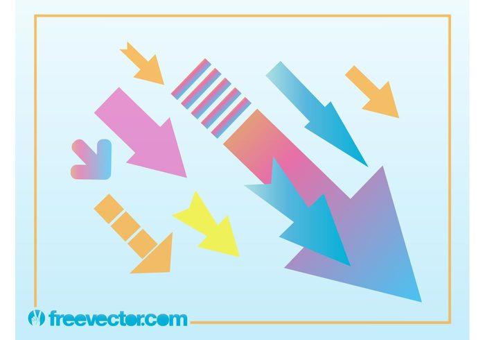 versatile template presentation point lines decorative decoration colors background Arrow graphics abstract
