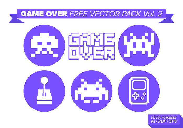 virtual video text symbol sign screen retro play platform pixelated pixel pc over level letters gaming games game-over game fun end electronic design death concept computer cartoon button bit background arcade 8