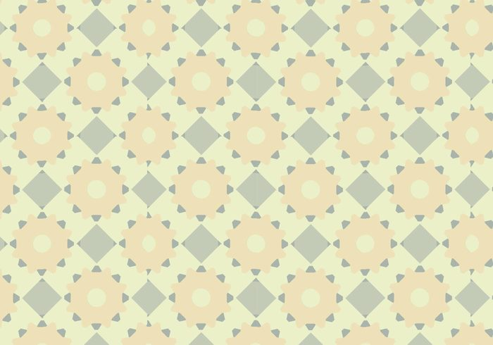 yellow tile seamless pattern pastels muted green cool blue background