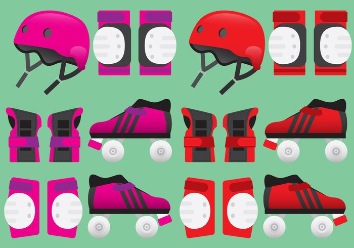young Wrist symbol sport skating skateboarding skateboard skate safety Safe roller derby roller protective protect Pads pad leisure leg knee isolated illustration icon helmet head guard gear fun flat extreme equipment elbow design derby colorful color background art arm activity active