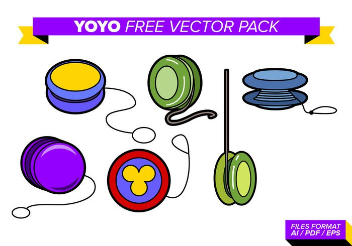 yoyo YO! yo-yo white vintage vector up tricks toy string sport spool spiral Spin Single round red play plastic object leisure knot isolated illustration icon green game fun flat entertainment enjoyment colorful color circle child background